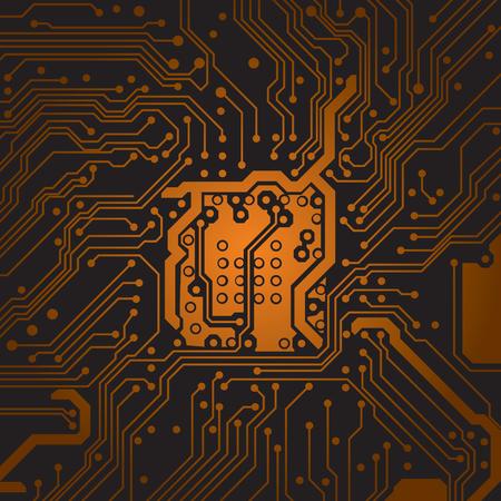 textura de fondo de la placa de circuito. Tecnologia computacional. Illustrtion técnica del vector. Ilustración de vector