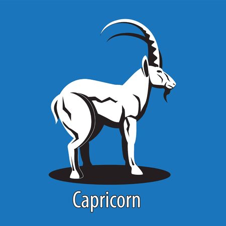Zodiac sign Capricorn on an isolated background.