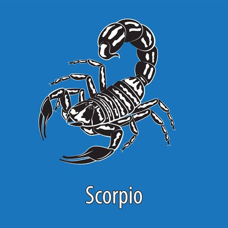 Sign of the zodiac Scorpio. Constellation of the Scorpion isolated background.