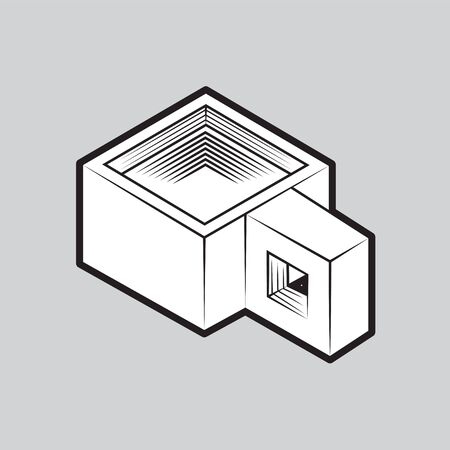Coffee cup icon on an isolated grey background.  イラスト・ベクター素材