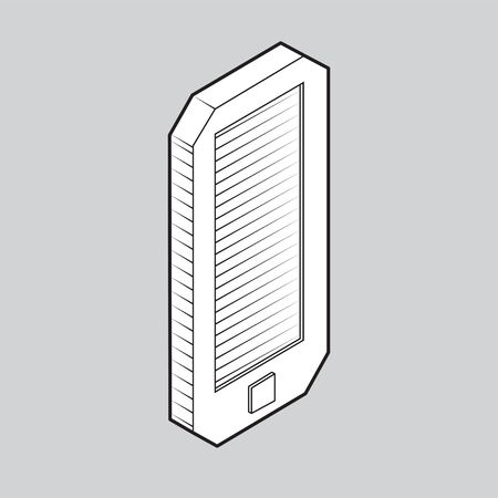 smartphone icon on isolated gray background.