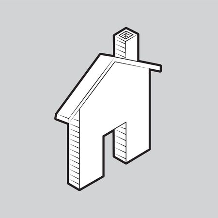 House icon on isolated grey background. Иллюстрация