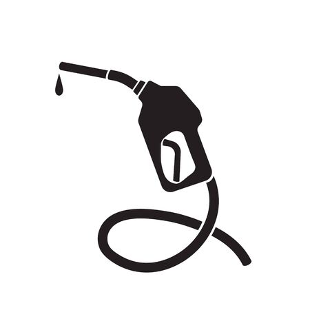 Gasoline pump nozzle sign.Gas station icon. Illustration