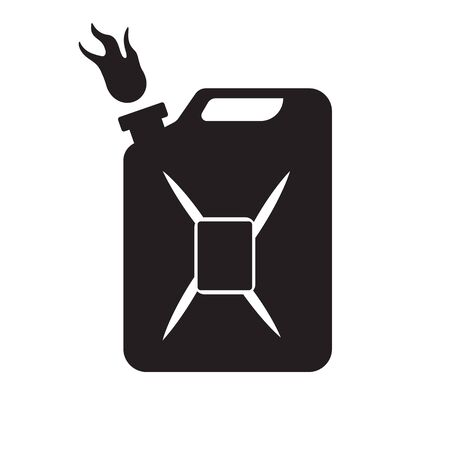 The gasoline canister icon is black on an isolated white background.