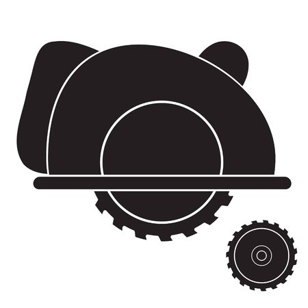 Circular saw construction tool icon on isolated background.  イラスト・ベクター素材