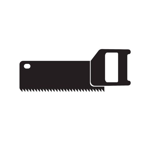 construction tool saw icon on white isolated background. Vector image. esp 10 Illustration