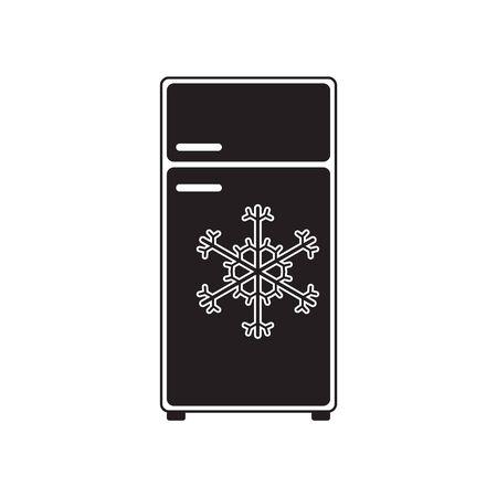 Refrigerator icon vector. Freezer icon. Refrigerator electronic symbol illustration Stock Illustratie