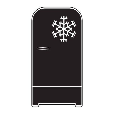 Refrigerator icon vector. Freezer icon. Refrigerator electronic symbol illustration. Flat design style on white background. eps 10