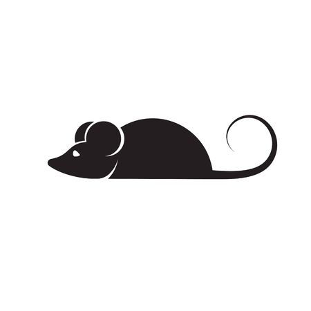 Mouse icon in trendy flat style isolated on background.