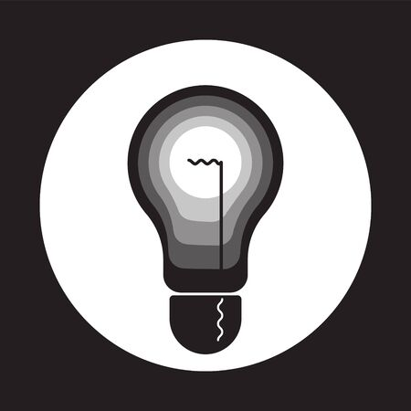 Light bulb icon on black isolated background. Vector image. eps 10