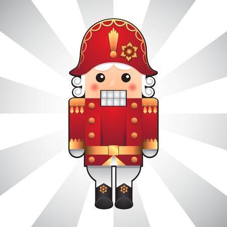 Christmas Nutcracker isolated on a light background. Vector image. eps 10