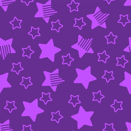 Seamless abstract purple star background. 向量圖像