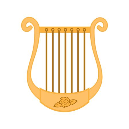 The icon is a musical instrument of the Harp isolated on white background. Vector image Ilustrace