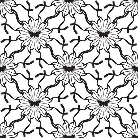 seamless pattern abstract mole flower ornament on white background.