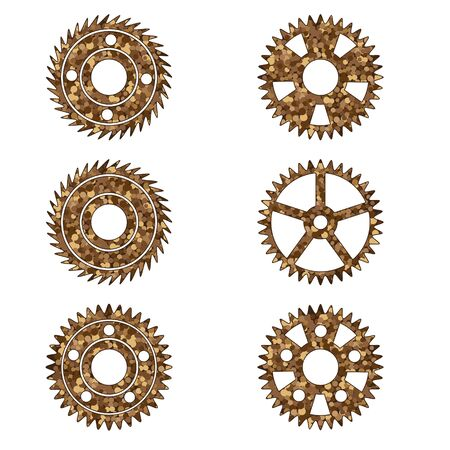 Gears on a white isolated background. Vector image eps 10