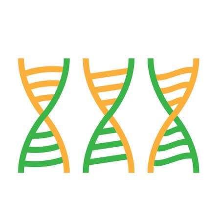 DNA helix icon on a white isolated background. Vector image Ilustração