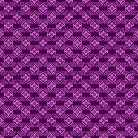 abstract diamond-shaped seamless pattern on a purple background.