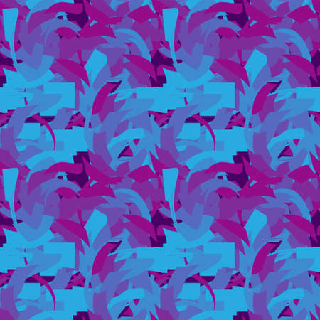 Seamless pattern made up of abstract angular elements. Fashionable stylish camouflage. Stock Illustratie