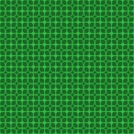 Seamless square mesh pattern on green background.