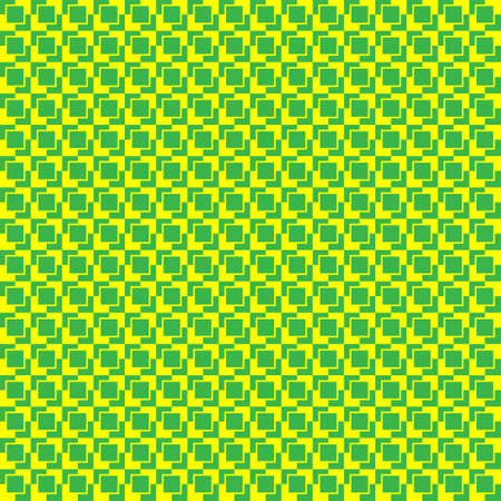 seamless abstract pattern squares yellow on a green background.