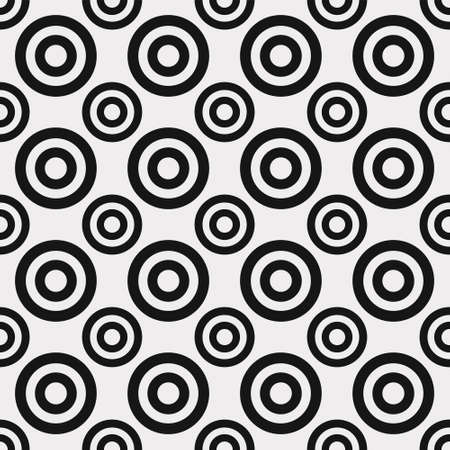 seamless abstract pattern of black circles on a white background Stock Illustratie
