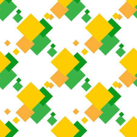 seamless pattern of multi colored squares on a white background.
