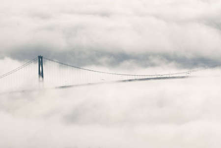Bridge in the Clouds Stock Photo