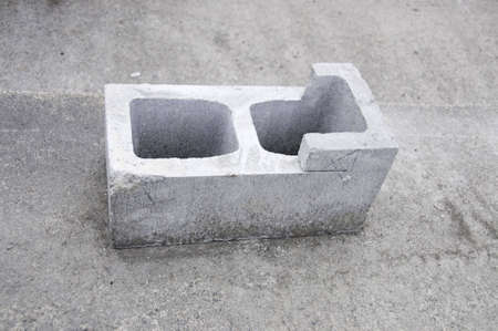 This is an 8x8x16 inch block that has been cut  by a concrete saw.