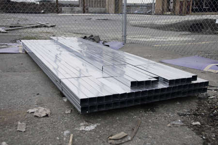 Stack of metal ready for the job site. Stock Photo