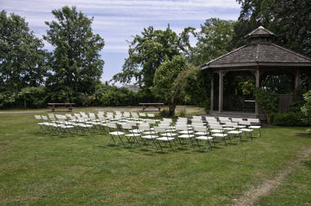 We have an outdoor wedding setup. All we need is the  bride ,groom and the guests.