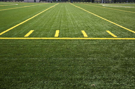 Lines on a field in a stadium. Stock Photo