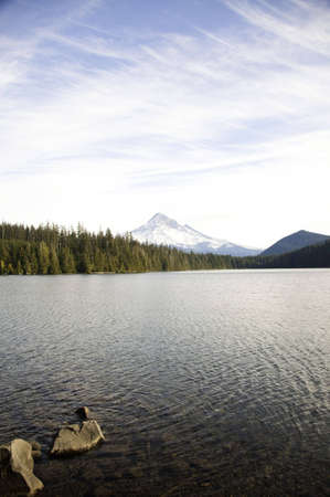 Mount hood from lost lake.It was taken in the afternoon. photo