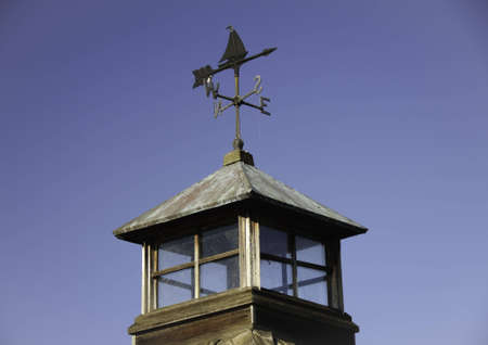 Lookout on a building with a weather vane on top. Stock Photo - 6999064