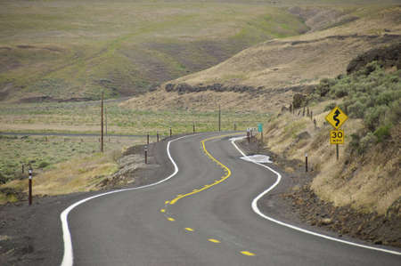 S curve road in the Palouse area of washington.