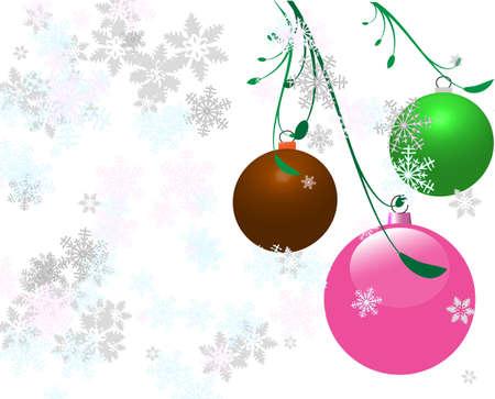 Vector Christmas bulbs Illustration