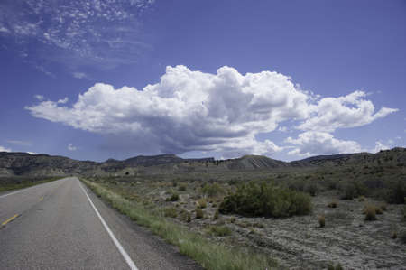 Storm clouds coming over highway in Bryce Canyon area