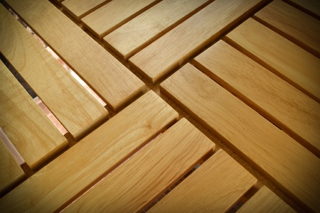 Pattern of light brown wooden table in a cafe  photo