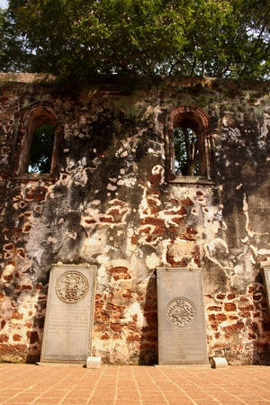 Old Portuguese tombstones Stock Photo