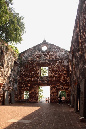 melacca: interior st pauls church