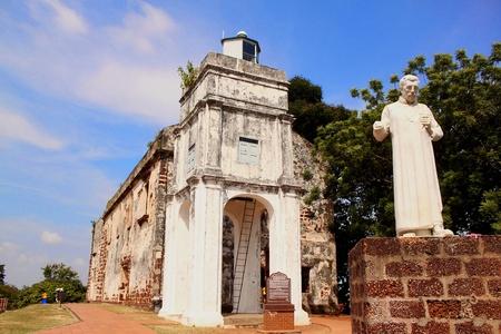 melacca: st pauls church, melaka