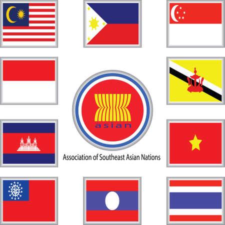 birma: De Associatie van Zuidoost-Aziatische Naties vlag