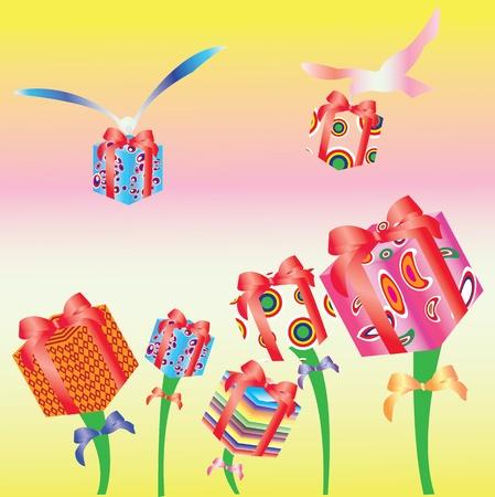 illustration of Beautiful present box