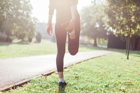 sano: Corredor calentamiento antes de correr