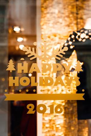 happy holidays: Happy Holidays 2016 Stock Photo
