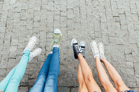 teen legs: Teens legs and shoes