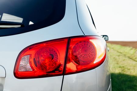 taillight: Closeup of car taillight