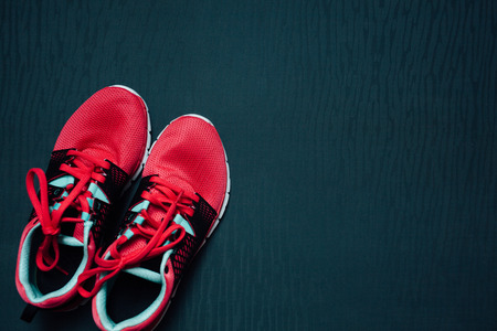 Womans and mans running shoes