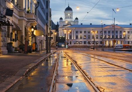 Helsinki nach dem regen
