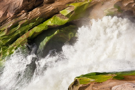 white water of the Orange river at Augrabies Falls, South Africa photo