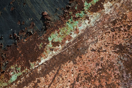 background of a textured old rusty metal plate photo